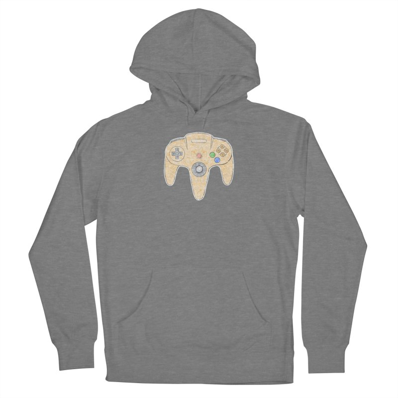 Gamepad SixtyFour - Yellow Women's Pullover Hoody by Krist Norsworthy Art & Design
