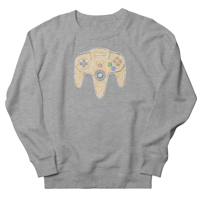 Gamepad SixtyFour - Yellow Women's French Terry Sweatshirt by Krist Norsworthy Art & Design