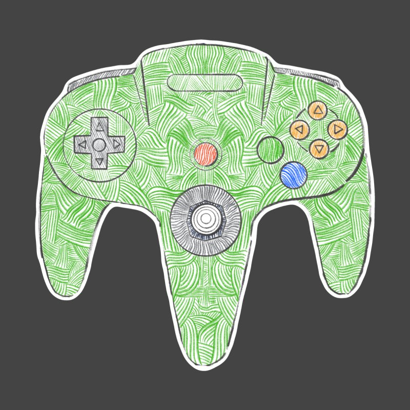Gamepad SixtyFour - Green by Krist Norsworthy Art & Design