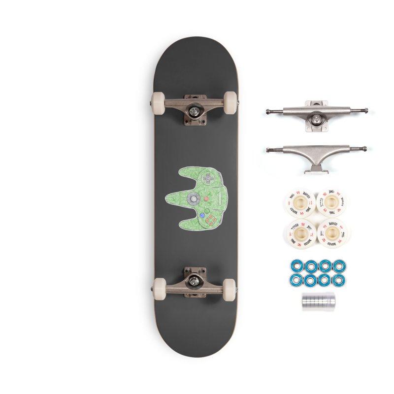 Gamepad SixtyFour - Green Accessories Complete - Premium Skateboard by Krist Norsworthy Art & Design