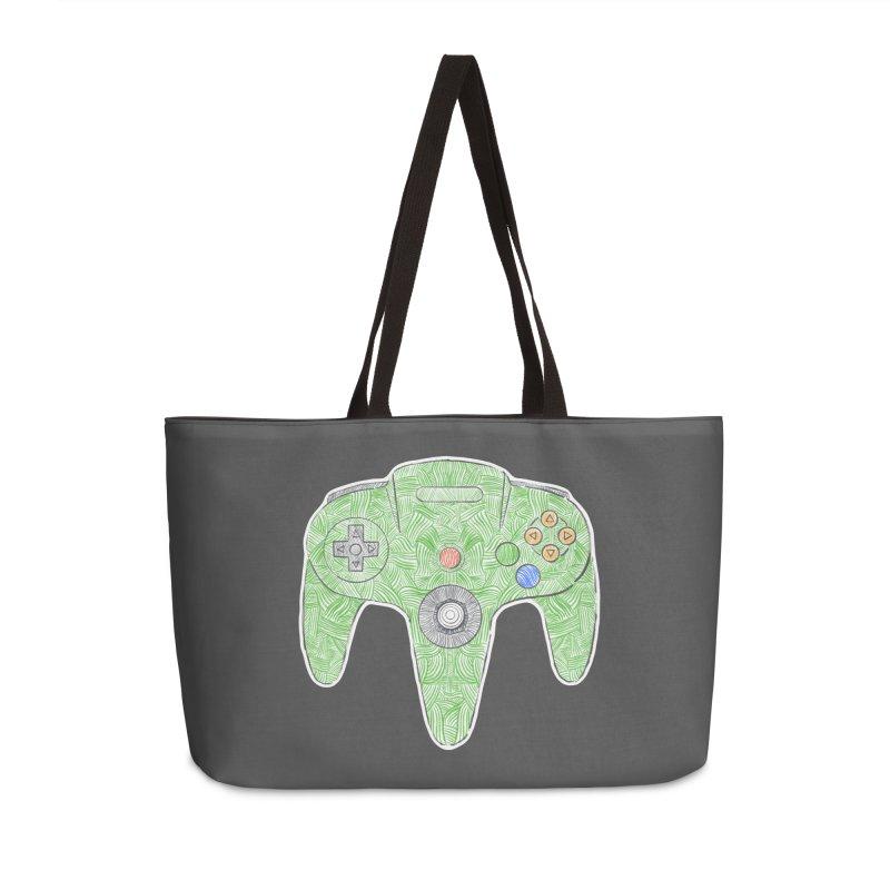 Gamepad SixtyFour - Green Accessories Weekender Bag Bag by Krist Norsworthy Art & Design