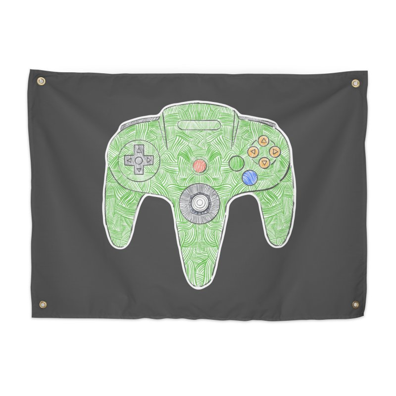 Gamepad SixtyFour - Green Home Tapestry by Krist Norsworthy Art & Design