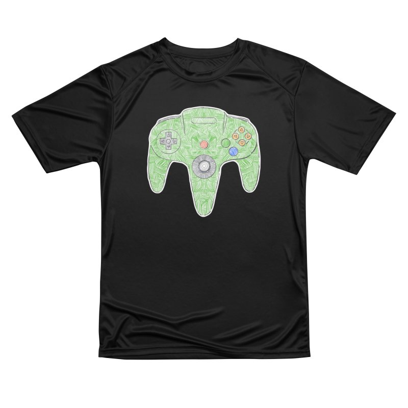 Gamepad SixtyFour - Green Women's Performance Unisex T-Shirt by Krist Norsworthy Art & Design