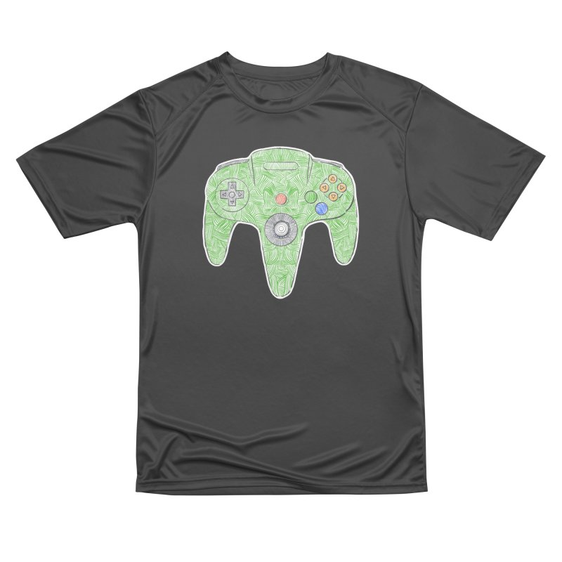 Gamepad SixtyFour - Green Men's Performance T-Shirt by Krist Norsworthy Art & Design