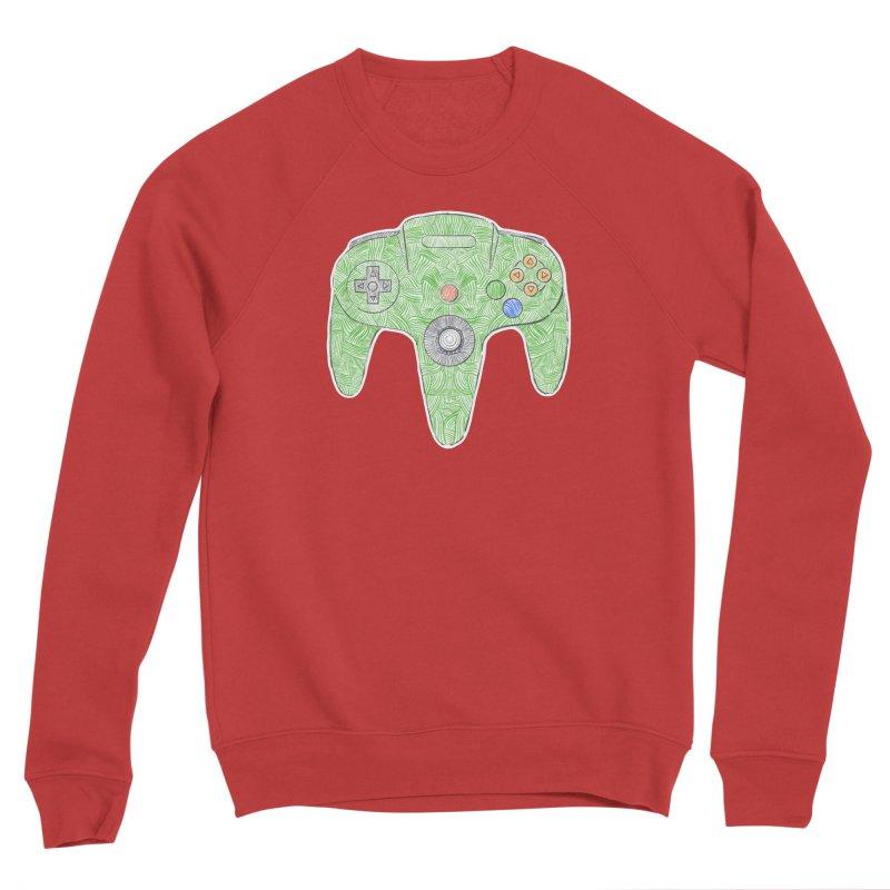 Gamepad SixtyFour - Green Men's Sponge Fleece Sweatshirt by Krist Norsworthy Art & Design