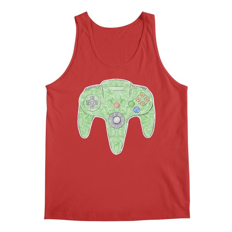 Gamepad SixtyFour - Green Men's Regular Tank by Krist Norsworthy Art & Design