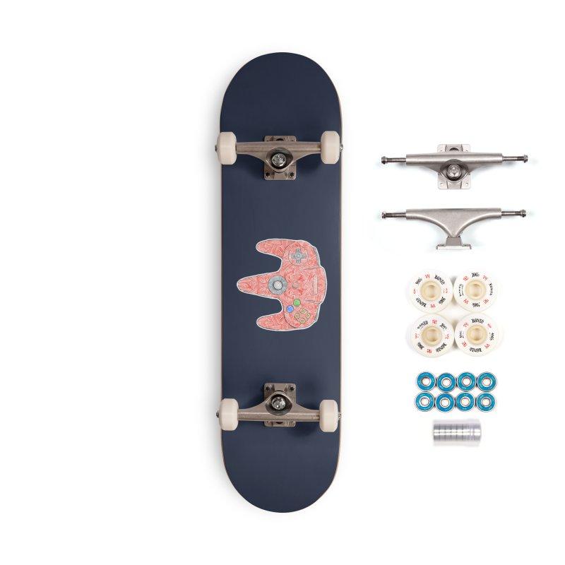 Gamepad SixtyFour - Red Accessories Complete - Premium Skateboard by Krist Norsworthy Art & Design