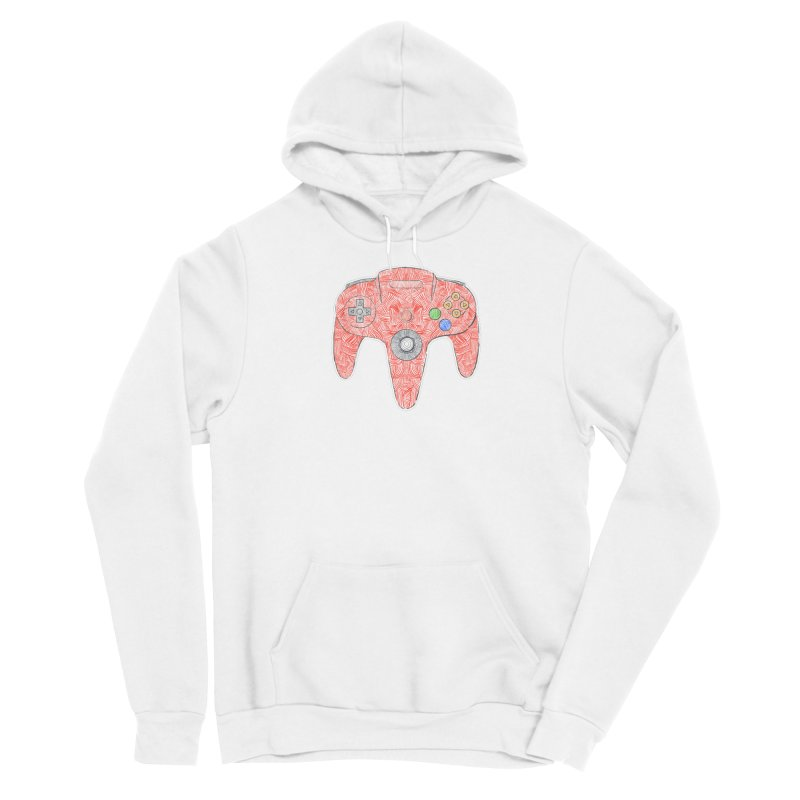 Gamepad SixtyFour - Red Men's Pullover Hoody by Krist Norsworthy Art & Design
