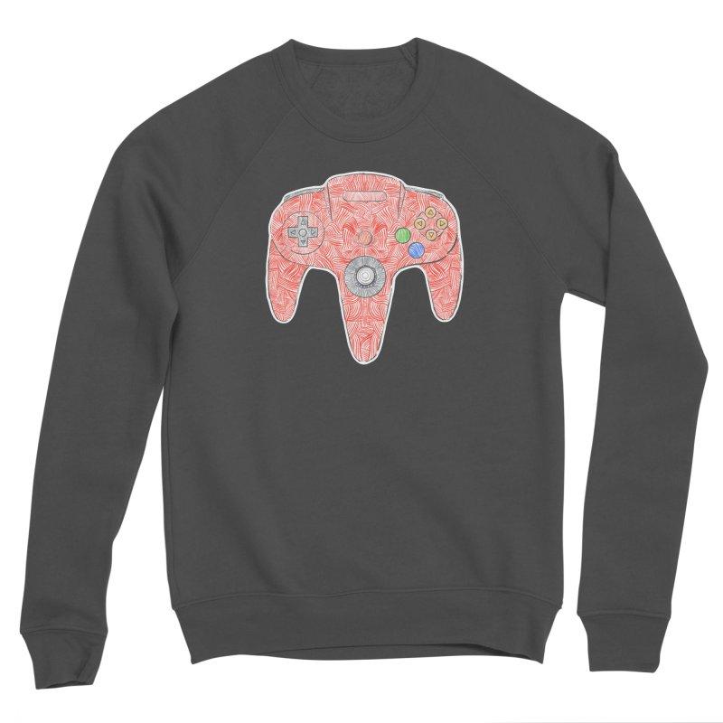 Gamepad SixtyFour - Red Men's Sponge Fleece Sweatshirt by Krist Norsworthy Art & Design