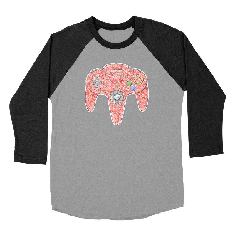 Gamepad SixtyFour - Red Women's Baseball Triblend Longsleeve T-Shirt by Krist Norsworthy Art & Design