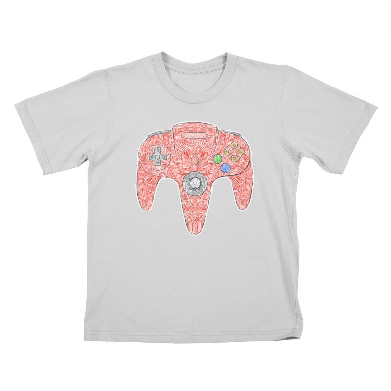 Gamepad SixtyFour - Red Kids T-Shirt by Krist Norsworthy Art & Design