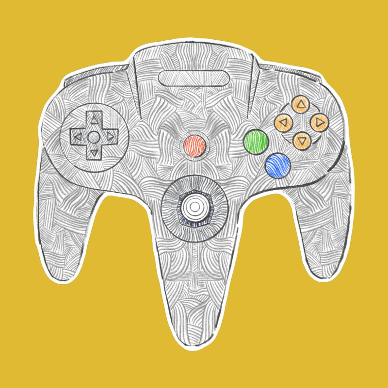 Gamepad SixtyFour - Grey Accessories Mug by Krist Norsworthy Art & Design