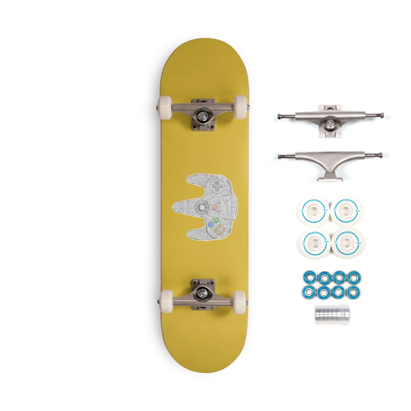Gamepad SixtyFour - Grey Accessories Complete - Basic Skateboard by Krist Norsworthy Art & Design
