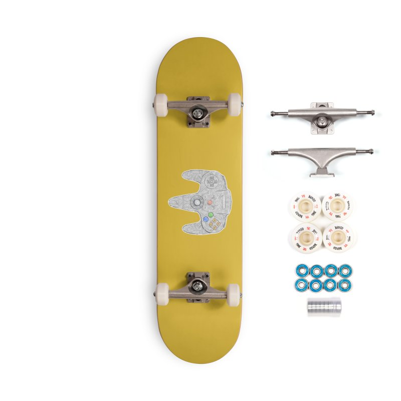 Gamepad SixtyFour - Grey Accessories Complete - Premium Skateboard by Krist Norsworthy Art & Design