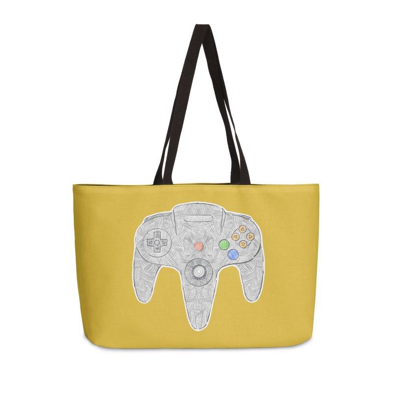 Gamepad SixtyFour - Grey Accessories Weekender Bag Bag by Krist Norsworthy Art & Design