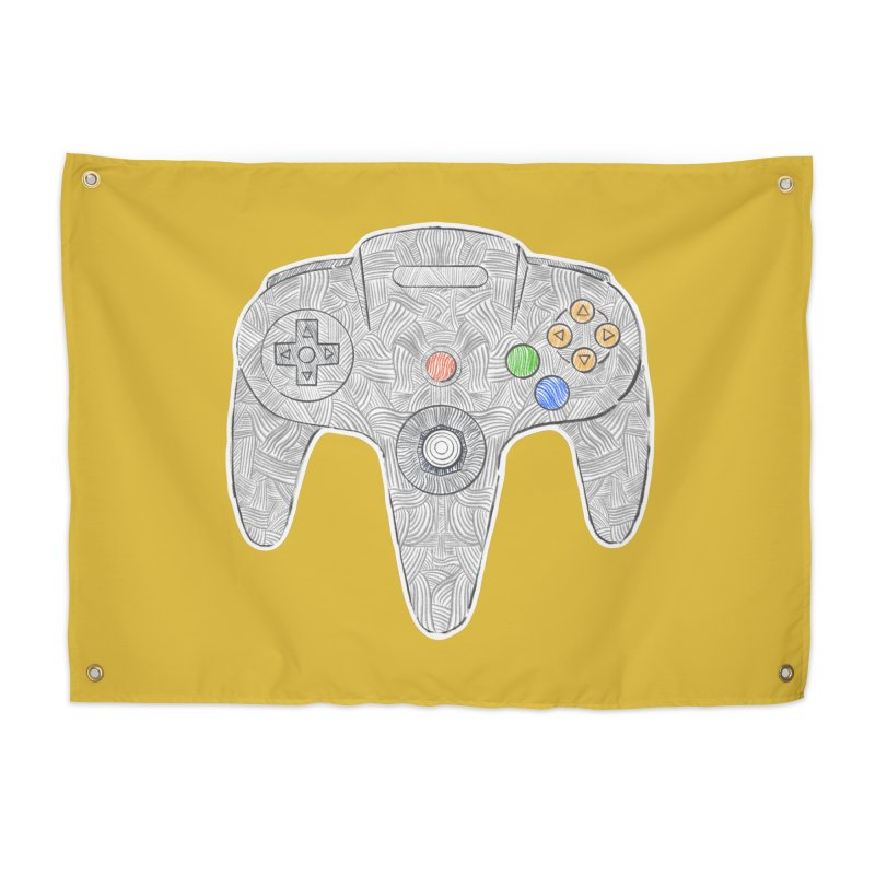 Gamepad SixtyFour - Grey Home Tapestry by Krist Norsworthy Art & Design