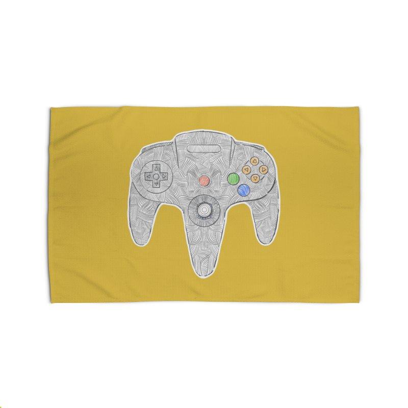 Gamepad SixtyFour - Grey Home Rug by Krist Norsworthy Art & Design