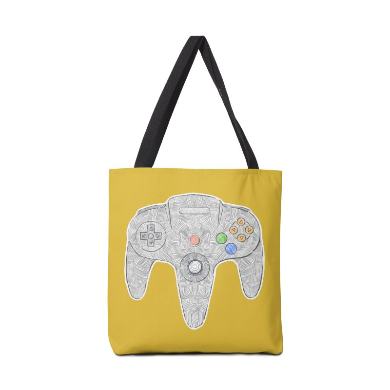 Gamepad SixtyFour - Grey Accessories Tote Bag Bag by Krist Norsworthy Art & Design