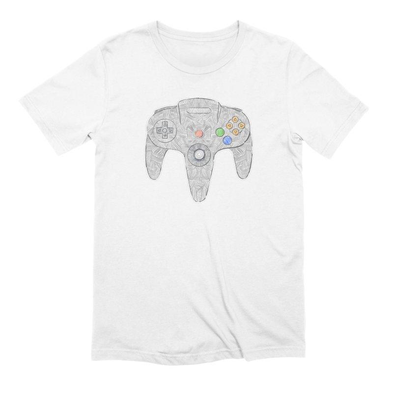 Gamepad SixtyFour - Grey Men's Extra Soft T-Shirt by Krist Norsworthy Art & Design