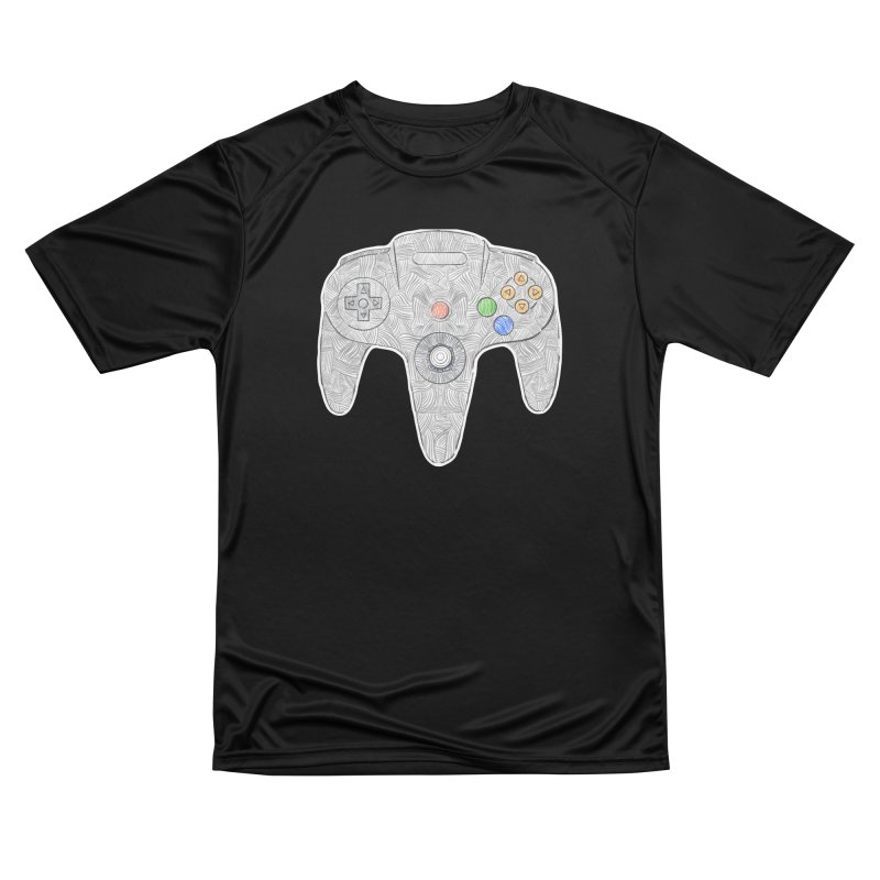 Gamepad SixtyFour - Grey Women's Performance Unisex T-Shirt by Krist Norsworthy Art & Design