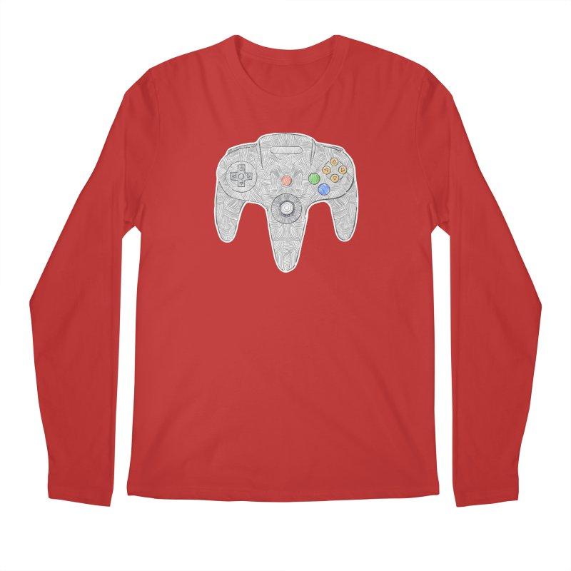 Gamepad SixtyFour - Grey Men's Regular Longsleeve T-Shirt by Krist Norsworthy Art & Design