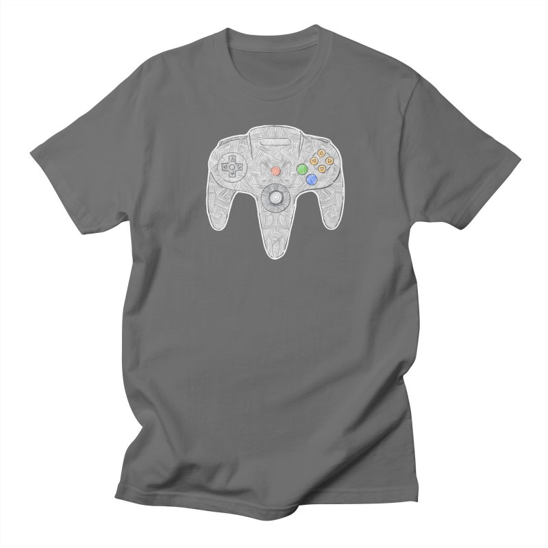 Gamepad SixtyFour - Grey Men's T-Shirt by Krist Norsworthy Art & Design