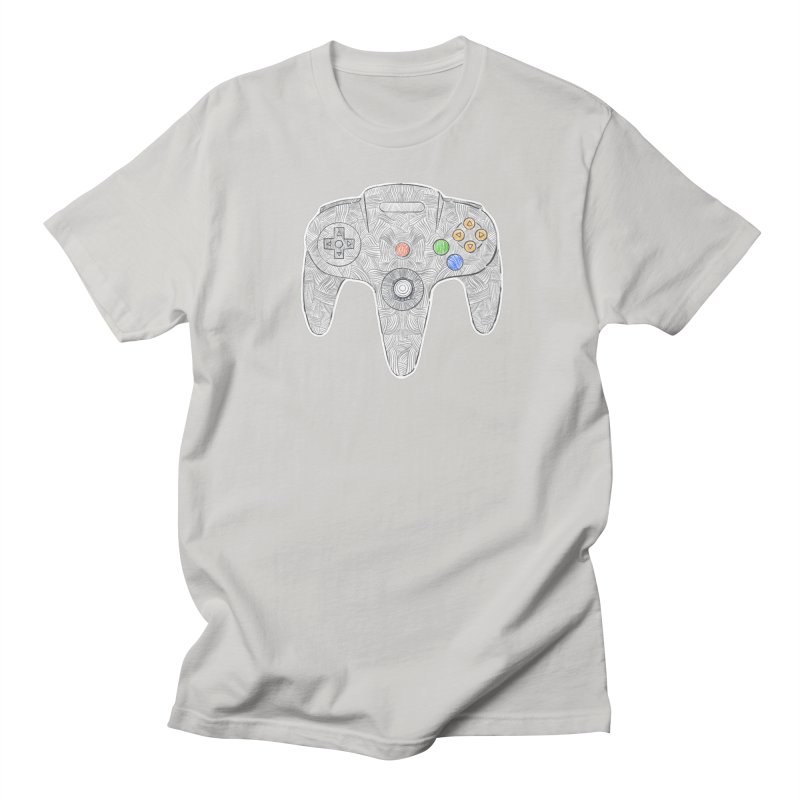 Gamepad SixtyFour - Grey Men's Regular T-Shirt by Krist Norsworthy Art & Design
