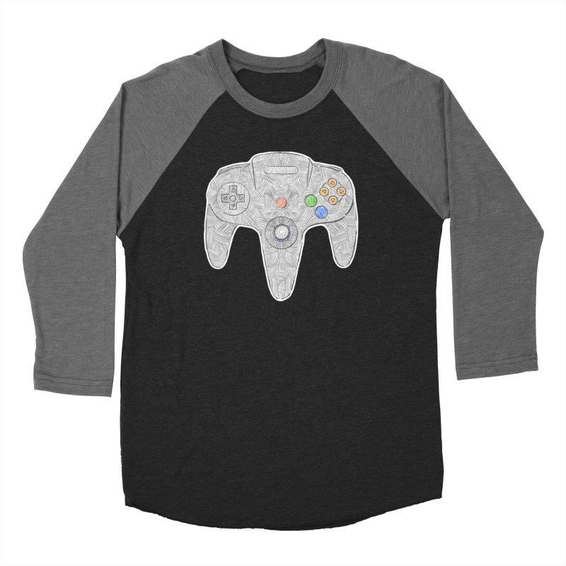 Gamepad SixtyFour - Grey Women's Baseball Triblend Longsleeve T-Shirt by Krist Norsworthy Art & Design