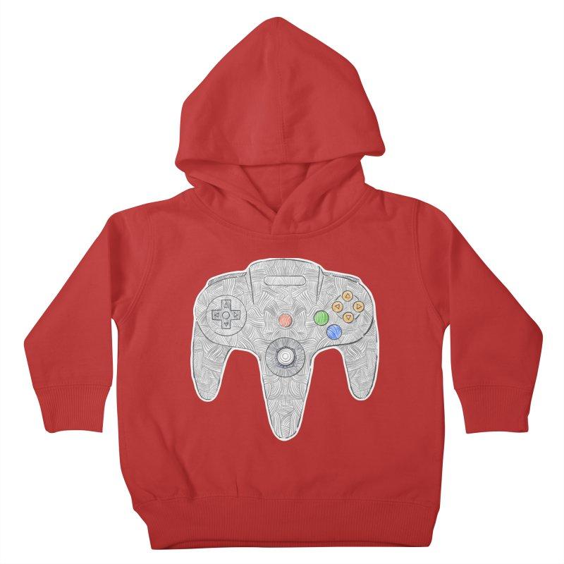 Gamepad SixtyFour - Grey Kids Toddler Pullover Hoody by Krist Norsworthy Art & Design