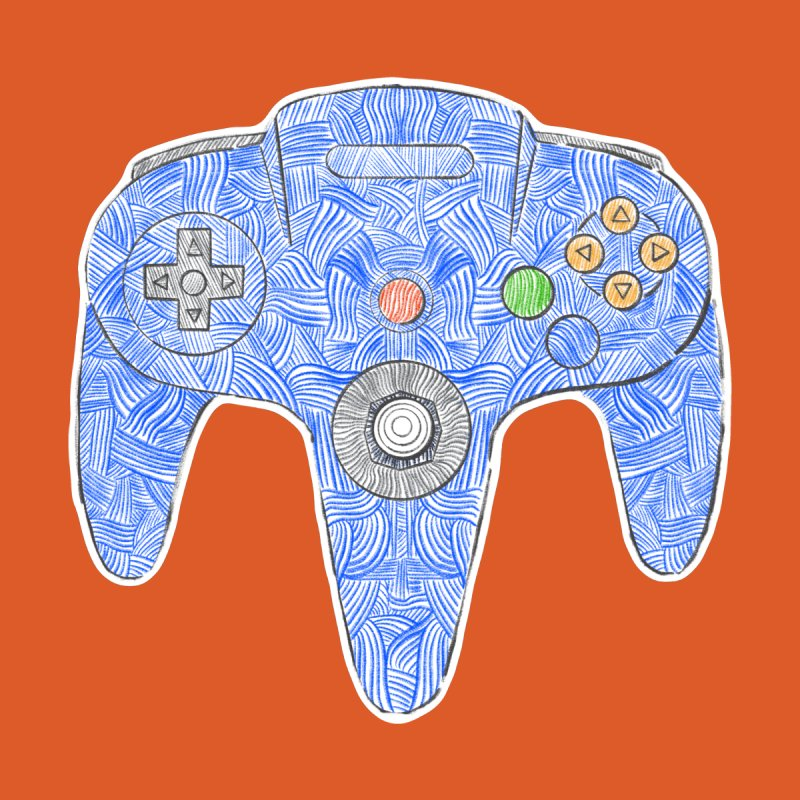 Gamepad SixtyFour - Blue Men's T-Shirt by Krist Norsworthy Art & Design