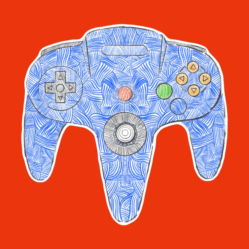 Gamepad SixtyFour - Blue by Krist Norsworthy Art & Design