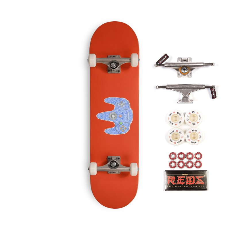 Gamepad SixtyFour - Blue Accessories Complete - Pro Skateboard by Krist Norsworthy Art & Design