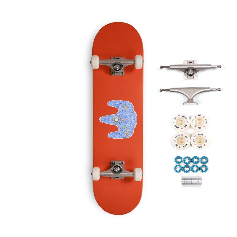 Gamepad SixtyFour - Blue Accessories Complete - Premium Skateboard by Krist Norsworthy Art & Design