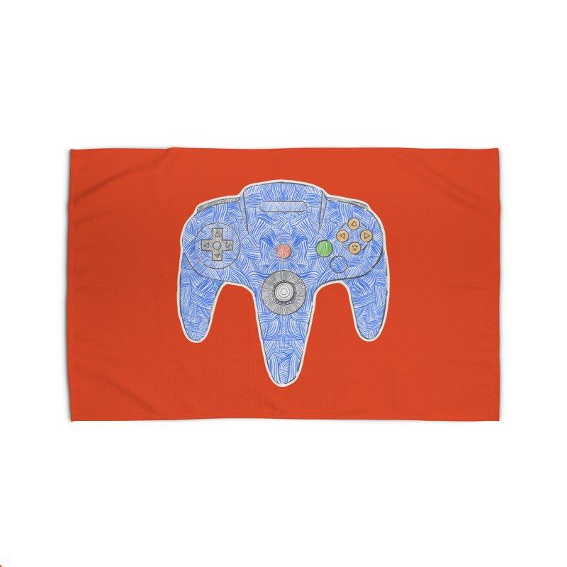 Gamepad SixtyFour - Blue Home Rug by Krist Norsworthy Art & Design