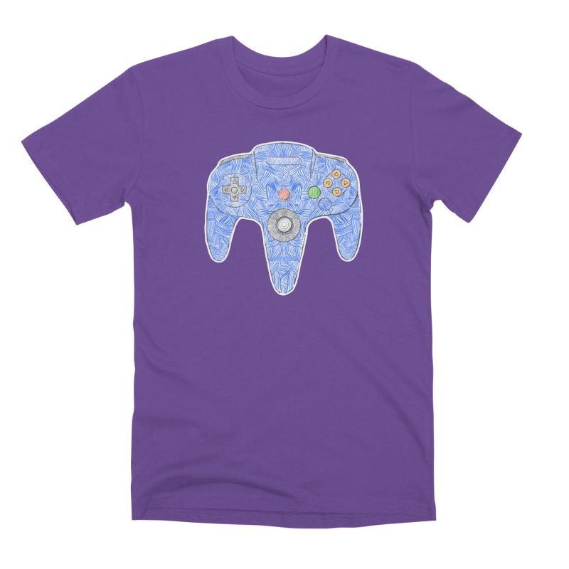 Gamepad SixtyFour - Blue Men's Premium T-Shirt by Krist Norsworthy Art & Design