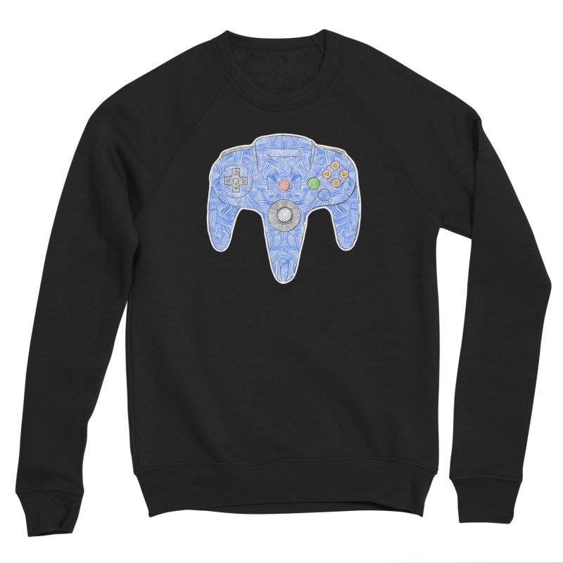 Gamepad SixtyFour - Blue Men's Sponge Fleece Sweatshirt by Krist Norsworthy Art & Design
