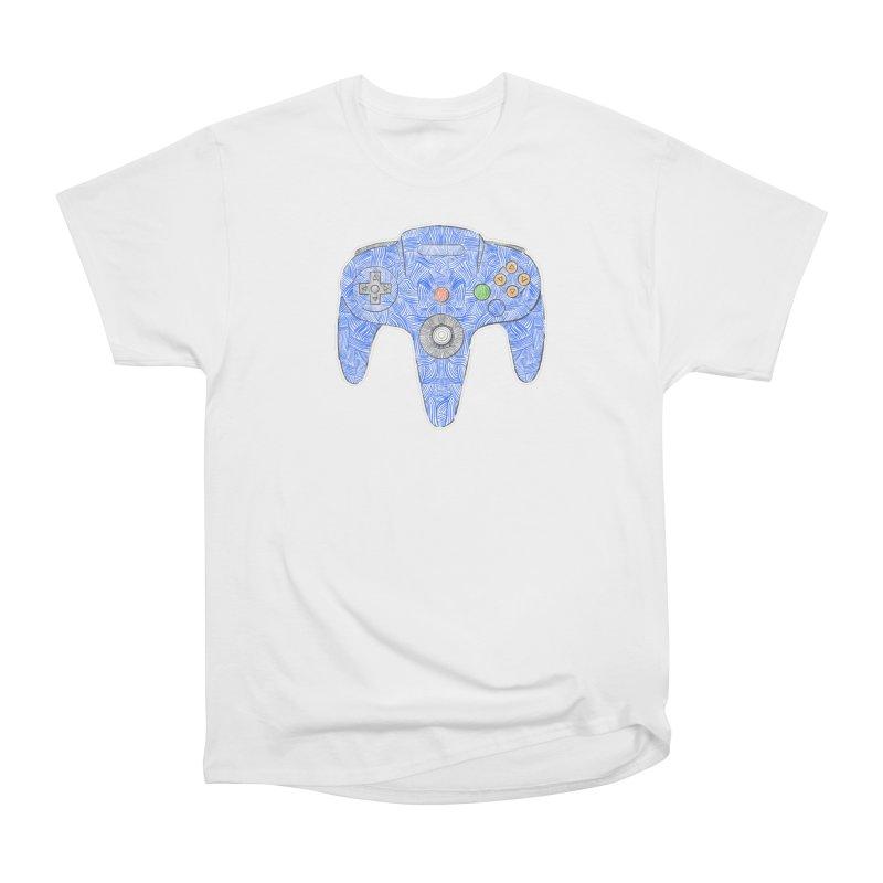 Gamepad SixtyFour - Blue Women's T-Shirt by Krist Norsworthy Art & Design