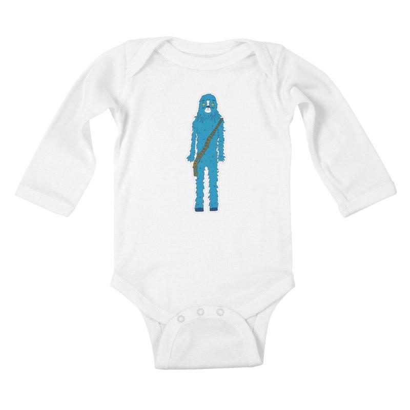 Bluebacca Kids Baby Longsleeve Bodysuit by Krist Norsworthy Art & Design