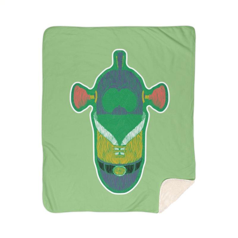 Cucumber Boy Home Blanket by Krist Norsworthy Art & Design
