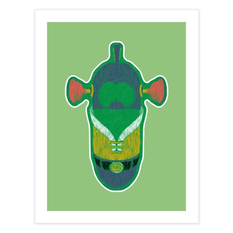Cucumber Boy Home Fine Art Print by Krist Norsworthy Art & Design