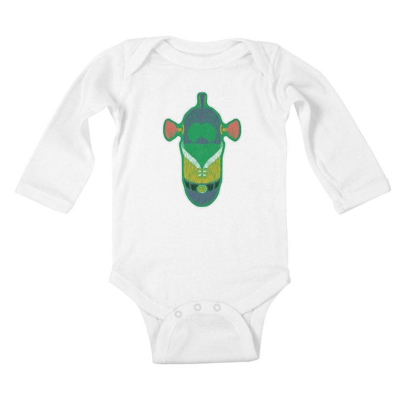 Cucumber Boy Kids Baby Longsleeve Bodysuit by Krist Norsworthy Art & Design