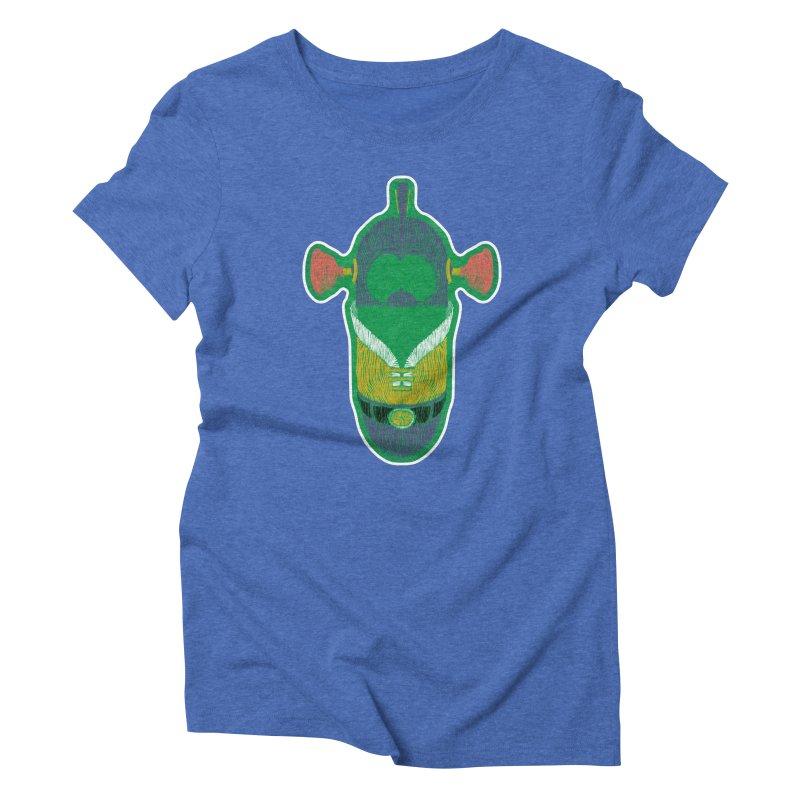 Cucumber Boy Women's Triblend T-Shirt by Krist Norsworthy Art & Design