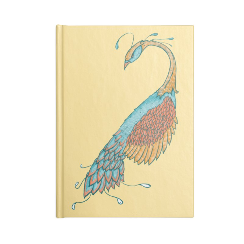 Peacock Accessories Blank Journal Notebook by Krist Norsworthy Art & Design