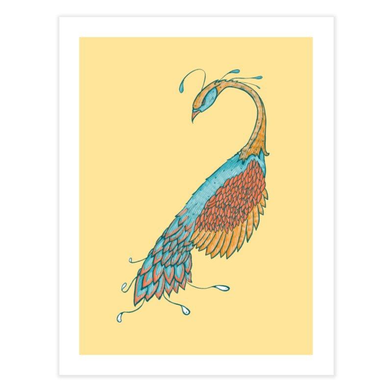 Peacock Home Fine Art Print by Krist Norsworthy Art & Design