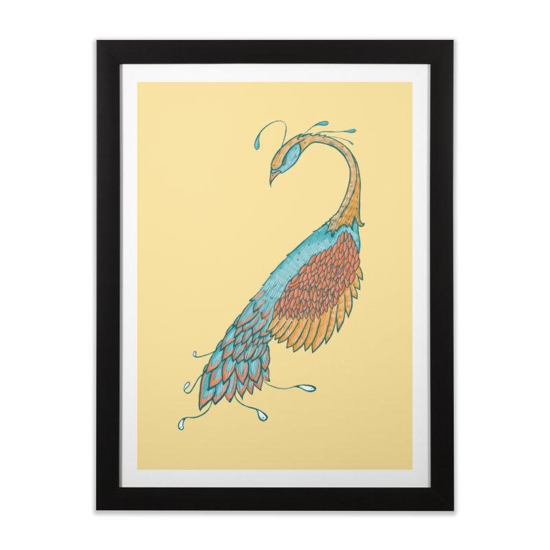 Peacock Home Framed Fine Art Print by Krist Norsworthy Art & Design