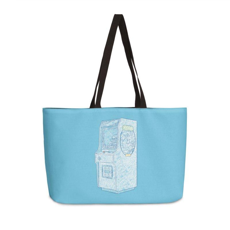 Retro Arcade Cabinet Accessories Bag by Krist Norsworthy Art & Design