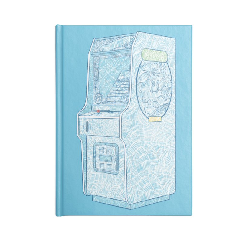 Retro Arcade Cabinet Accessories Blank Journal Notebook by Krist Norsworthy Art & Design