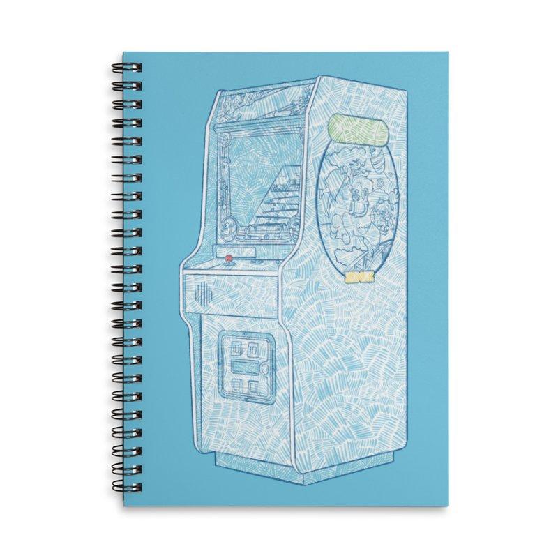 Retro Arcade Cabinet Accessories Notebook by Krist Norsworthy Art & Design