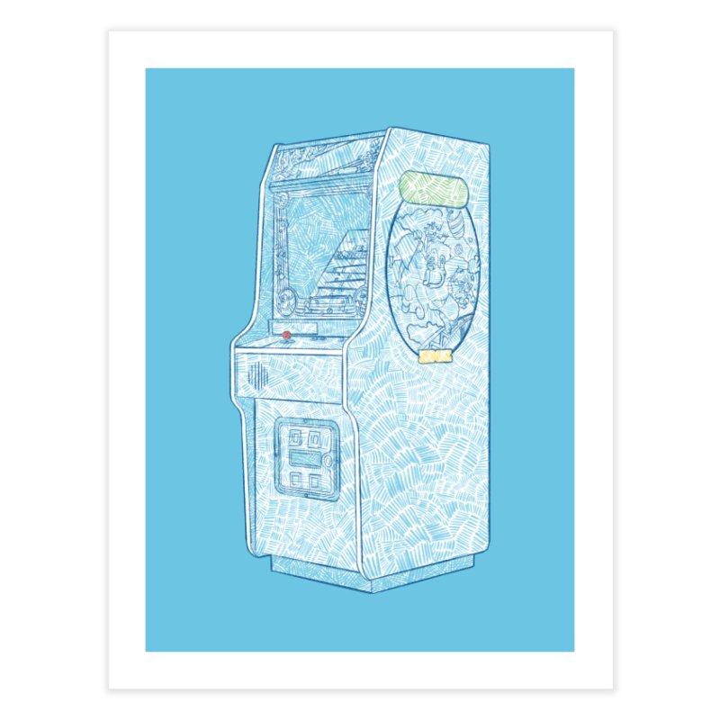 Retro Arcade Cabinet Home Fine Art Print by Krist Norsworthy Art & Design