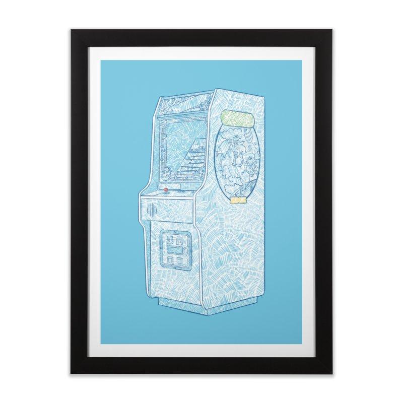 Retro Arcade Cabinet Home Framed Fine Art Print by Krist Norsworthy Art & Design